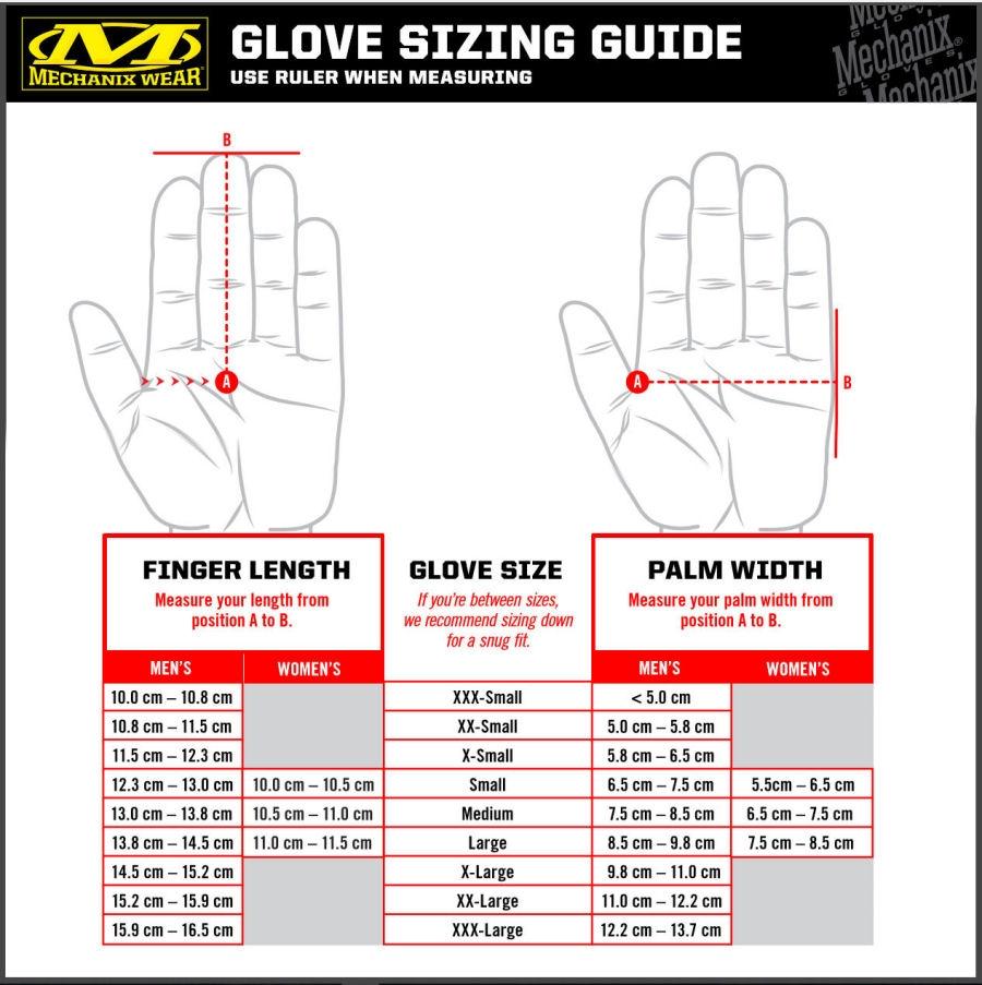 Mechanix Gloves Sizing Chart